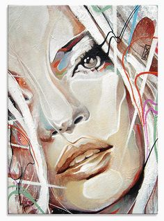 Kate Moss Portrait Study 2 by Art By Doc, via Flickr, Danny O'Connor, acrylic, spray paint, and correction fluid ??? awesomely beautiful