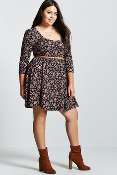 b197cab836a Plus Size Sheer Embroidered Dress - Plus Size - Dresses - 2000175160 - Forever  21 Canada