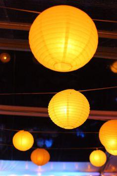 Decoration Mariage Jaune wedding yellow lampions