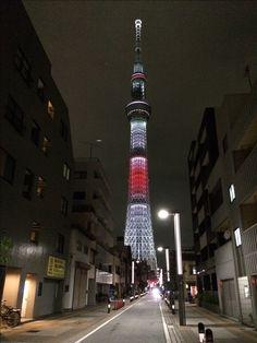 東京スカイツリー  オリンピックカラー