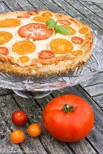 Paahteinen tomaattijuustokakku