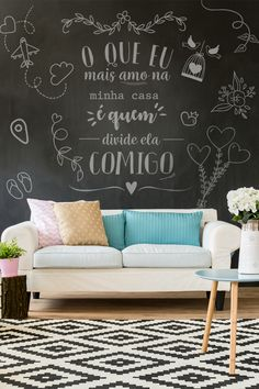 Brush Lettering, Hand Lettering, Wine And Coffee Bar, Desktop Background Pictures, Lettering Tutorial, White Chalk, Posca, Black Walls, Chalkboard Art