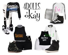 4DOLLS - Okay by mikki102 on Polyvore featuring polyvore fashion style Illustrated People Topshop Boutique Moschino rag & bone Dr. Denim Madden Girl Isabel Marant Vans clothing