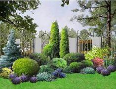 Миксбордер своими руками: схема, подбор растений + фото Evergreen Landscape, Evergreen Garden, Front House Landscaping, Outdoor Landscaping, Backyard Garden Design, Garden Landscape Design, Landscape Plans, Garden Planning, Garden Inspiration
