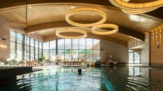 Indoor Pool im Bergland Hotel Sölden in Tirol! Wellness Hotel Tirol, Wellness Spa, Design Hotel, Das Hotel, Resort Spa, Modern, Hotels, Indoor, Lights