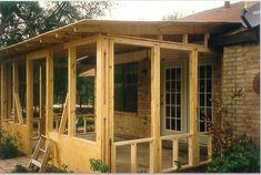 Screened In Patio - basic design idea for the back patio. (GJ)
