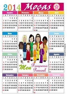 CALENDÁRIO 2014 DA Organização das Moças