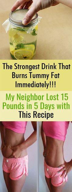 The Strongest Drink That Burns Tummy Fat Immediately!!! My Neighbor Lost 15 Pounds in 5 Days with This Recipe.