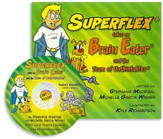 Superflex takes on Brain Eater focuses on one of the social cognitive challenges we see most often in our students, distractibility, with strategies on how to stay on track with every day activities like getting ready for school and listening in class!