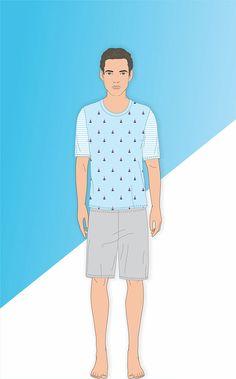 MARTÍN - Linha de listrados de Meia malha penteada com bolso e bordado Mixte Men´s. Linha juvenil coordenada com a Ref. 8335.