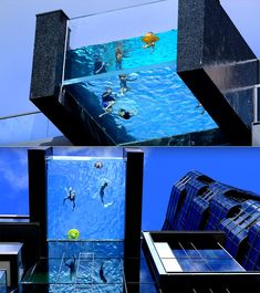 This Glass-Bottomed Pool in Honolulu Extends Over the Edge of a High Rise Building Glass Bottom Pool, Glass Pool, Swimming Pool Designs, Swimming Pools, Theme Hotel, Container Pool, Hawaii Homes, Rooftop Pool, High Rise Building