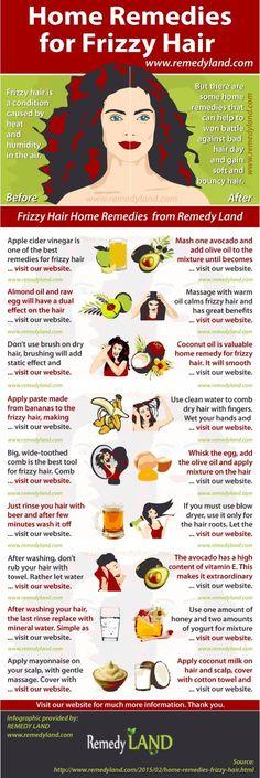 Frizzy Hair Home Remedies #hair #remedies