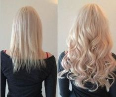 Nice blonde summer wavy hairstyle~ Before and after wearing hair extensions~ the natural look and easy style,cannot wait to try