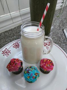 Nothing like milk and cupcakes