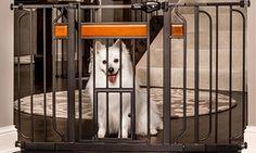 Groupon - Carlson Design Paw Walk-Through Pet Gate with Small Door . Groupon deal price: $42.99
