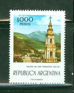 Argentina MNH Selections II: Scott #1110 1000P San Francisco Church Salta Baby Disney, Stamp Collecting, Postage Stamps, San Francisco, World, Collection, Argentina, Salta, The World