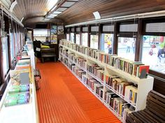 Train Wagon Transformed into Clever Street Library in Curitiba, Brazil