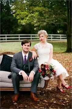 red fall wedding ideas #fallwedding #pinkandred #weddingchicks http://www.weddingchicks.com/2014/03/06/red-wedding-bouquet/