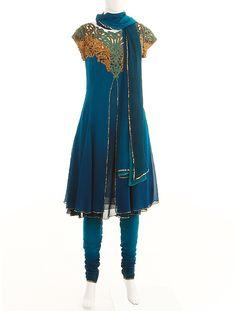 DOZAKH, Blue shaded salwar kameez, $170.09