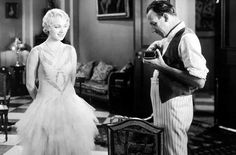 """leilahyams: """" Leila Hyams and director Tod Browning during the filming of Freaks (1932). """""""