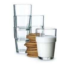 Stackable glass cups
