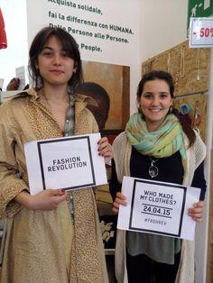 Fashion Revolution Day. 24.04.15 www.fashionrevolu... #FashRev #FashionRevolution #Whomademyclothes #chihafattoituoivestiti