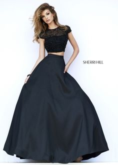 $700.00 Sherri Hill 32060 Short Sleeve Ball Gown