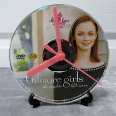 Gilmore Girls DVD Clock Upcycled TV Show #2 - Rory by DarkStormTV on Etsy