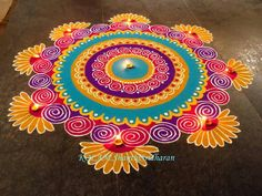 We have included beautiful diwali rangoli designs from shanthi's gallery. It's believed that rangoli designs started many centuries ago. Some refrences of rangoli designs are also available in our Rangoli Designs Simple Diwali, Easy Diwali Rangoli, Indian Rangoli Designs, Rangoli Designs Latest, Rangoli Designs Flower, Rangoli Border Designs, Small Rangoli Design, Rangoli Patterns, Colorful Rangoli Designs