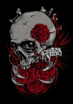 Skull Rose by Danu setyaji, via Behance