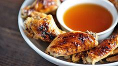 Your favorite cinnamon whisky and a batch of chicken wings - football food never tasted so good. Best Chicken Wing Recipe, Chicken Wing Recipes, Baked Chicken, Sriracha Chicken, Coconut Chicken, Honey Chicken, Baked Ham, Oven Baked, Healthy Chicken