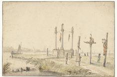 'Overstroomde land achter Buiksloot,' 1825, anoniem, naar J. Claus jr., 1825