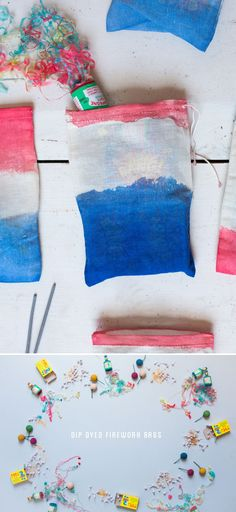 4th of July DIY Dip Dyed Firework Bags!