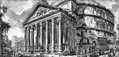 Grabado Piranesi - Panteon de Agripa- Roma