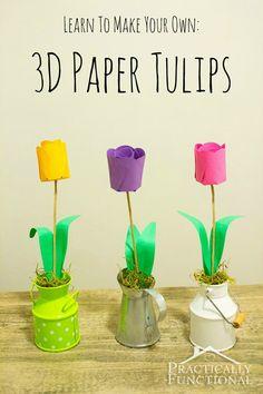How to make DIY Tissue Paper Flowers tutorial. One of my favorite spring crafts! Kids Crafts, Craft Projects, Diy And Crafts, Paper Crafts, Craft Ideas, How To Make Paper Flowers, Tissue Paper Flowers, Handmade Flowers, Diy Flowers
