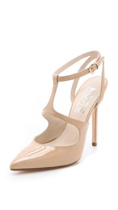 Kors By Michael Kors Adrielle Pointed Toe Pumps in Beige (nude)