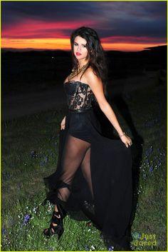 Selena gomez black dress come and get it