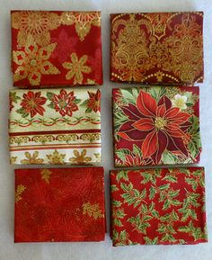 HOLIDAY FLOURISH 7~Red ~by Kaufman~ 6~Fat Quarter Bundle~ Sew FQ158