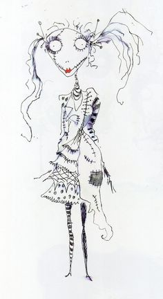 The sketch on the left is by Tim Burton, scanned...