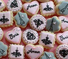 Paris cookies 2 dozen mini Paris cookies por SweetArtSweets