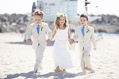 beach wedding with kids