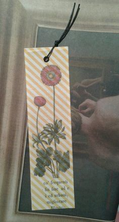 Handmade bookmark segnalibro Books Flowers libri