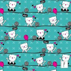 Estampa Gato Mia, de Skizze | Design Criativo.