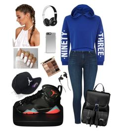 """""""Untitled #35"""" by abbiemiller-1 on Polyvore featuring J Brand, NIKE, Jordan Brand, New Look, Beats by Dr. Dre, Stila, JBL and Aspinal of London"""