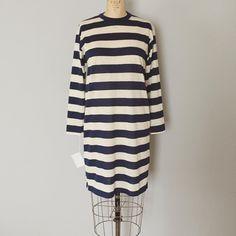 coming soon, 70s nautical navy striped mini dress at #laurelcompany #vintage #vintagedress #stripeddress #70s #1970s #parisienne #vintagefashion #conceptstore #conceptshop