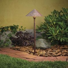 Kichler Decorative Hammered Roof 24.4W Low Voltage Path & Spread Light from the Copper Collection - Textured Tannery Bronze