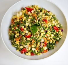 Kale and Corn Salad with Miso Tahini Dressing | 27 Delicious Recipes For A Summer Potluck