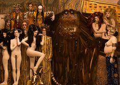 Klimt foreveringe prader brings gustav klimt paintings to life using models and props