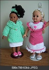 Free Crochet Outfit for American Girl Doll Pattern..
