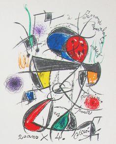 Joan Miro, 'Composition originale pour Fernand Mourlot'. Lithograph from the Mourlot Collection.